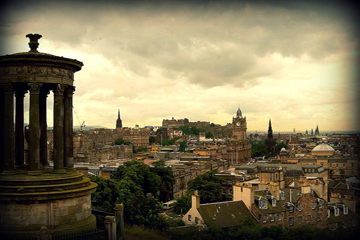 Edinburgh in Scotland where house prices are falling